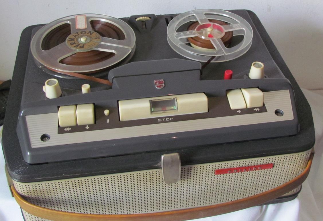 4-Spur-Tonbandgerät Philips RK 32 - Verstärker i.O ...