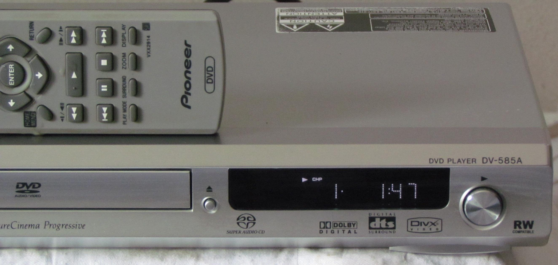 dvd player pioneer dv 585a s mit fernbedienung und. Black Bedroom Furniture Sets. Home Design Ideas