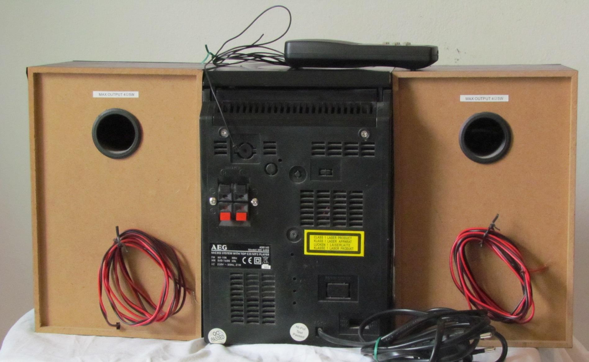 aeg mc 4408 radio tuner kassettendeck cd player mit. Black Bedroom Furniture Sets. Home Design Ideas