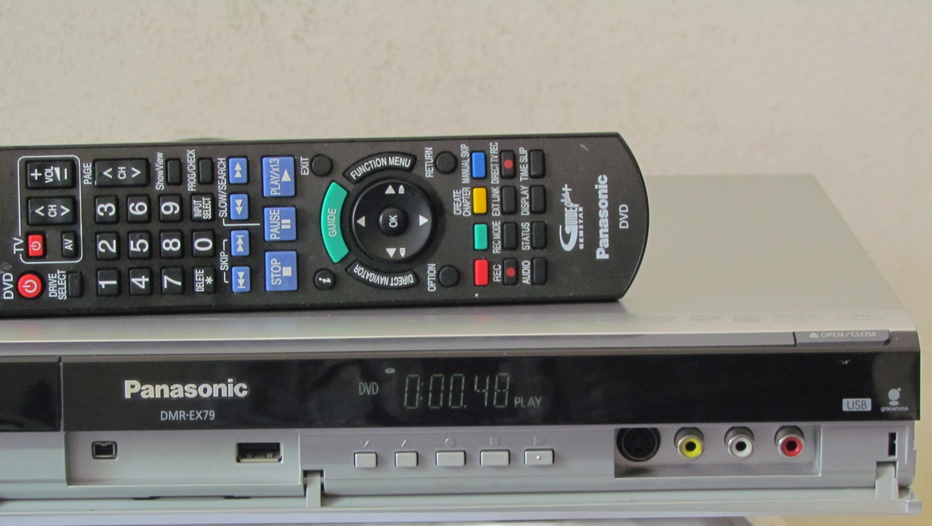 dvd festplattenrecorder panasonic dmr ex79 fernbed. Black Bedroom Furniture Sets. Home Design Ideas