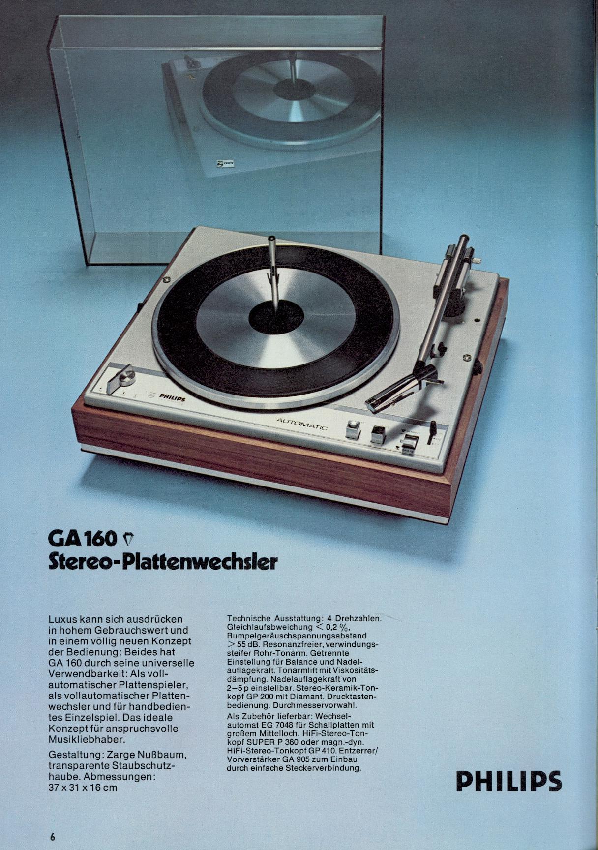 Philips Plattenspieler